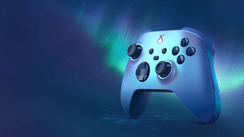 У Xbox теперь есть голубой переливающийся контроллер