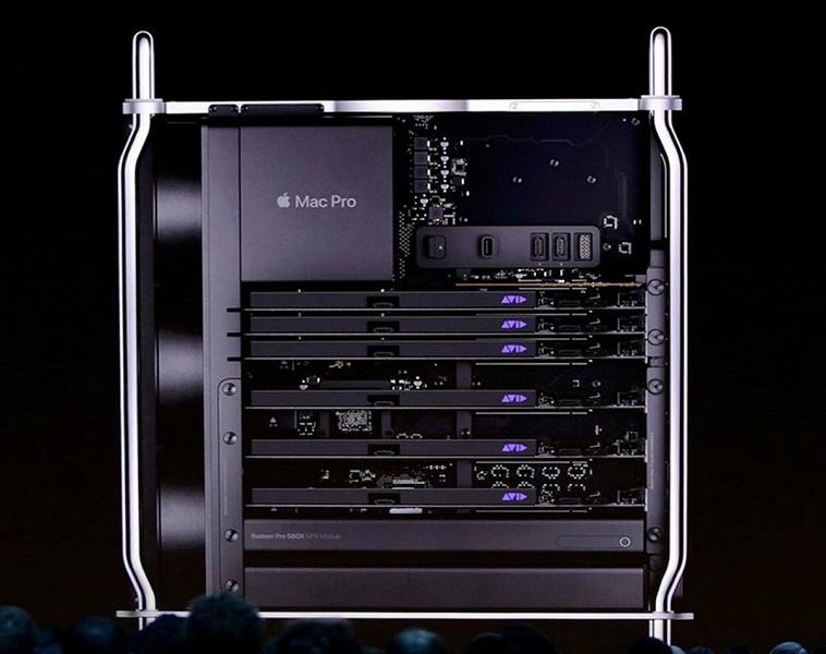 В Mac Pro теперь можно установить две двухчиповые видеокарты Radeon Pro W6800X Duo с 64 ГБ памяти у каждой