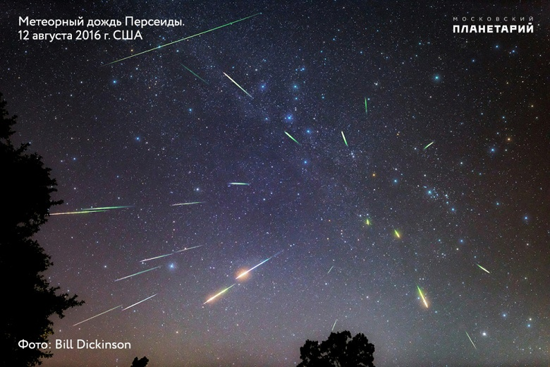До 110 метеоров в час: сегодня ночью в России можно наблюдать пик Персеид — самого яркого звездопада лета