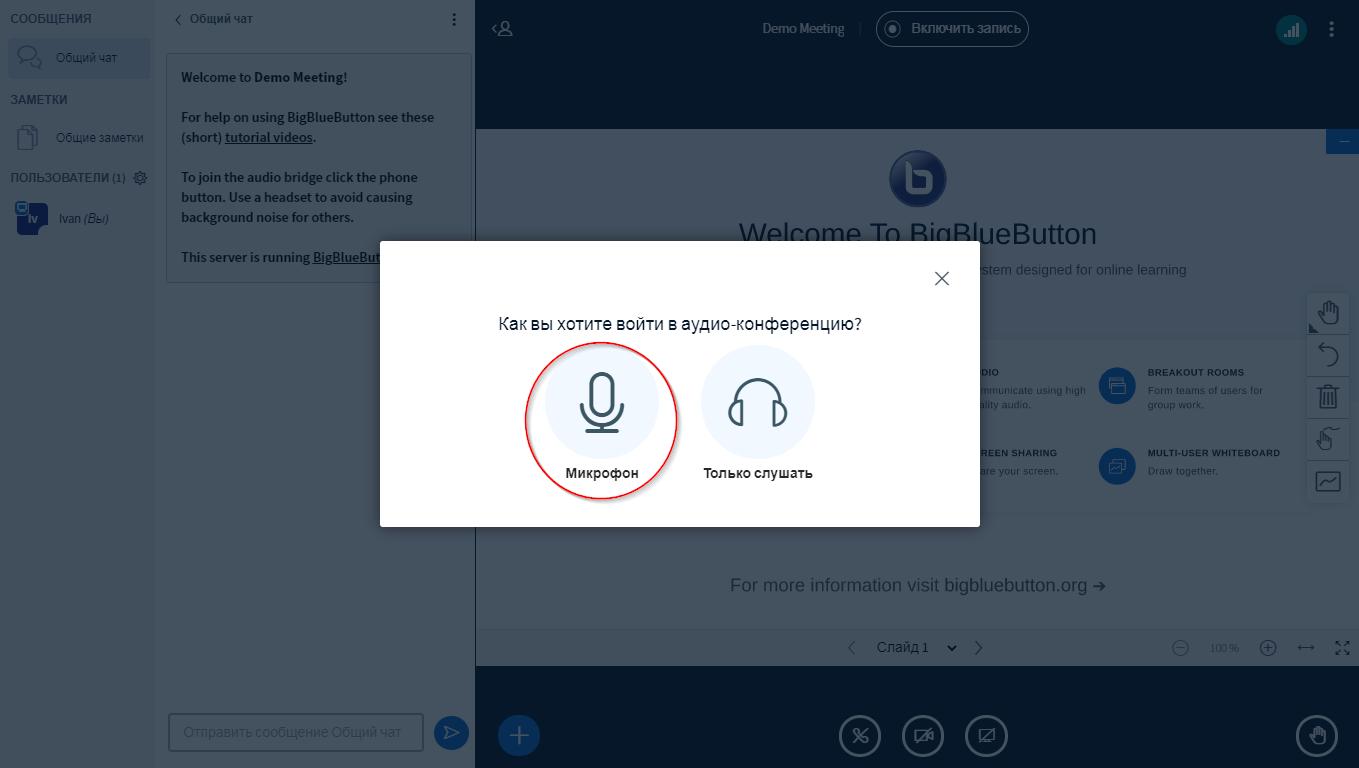Платформа для проведения видеоконференций BigBlueButton. Установка - 20