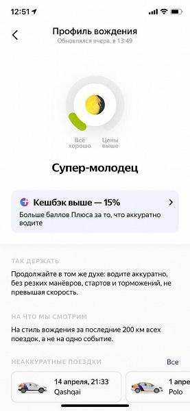 Каршеринг Яндекса начал поощрять рублём хороших водителей — 15% с поездки