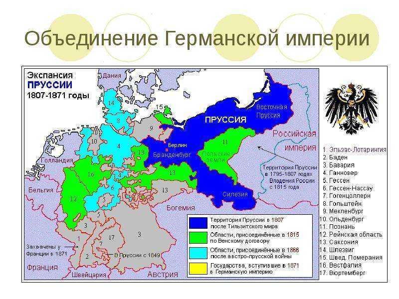 Реформы в Пруссии сделали эту страну бесспорным лидером в глазах немцев, тем образцом, к которому стоит стремиться, поэтому нет ничего удивительно в том, что именно Пруссия станет центром притяжения для немцев и объединителем Германии