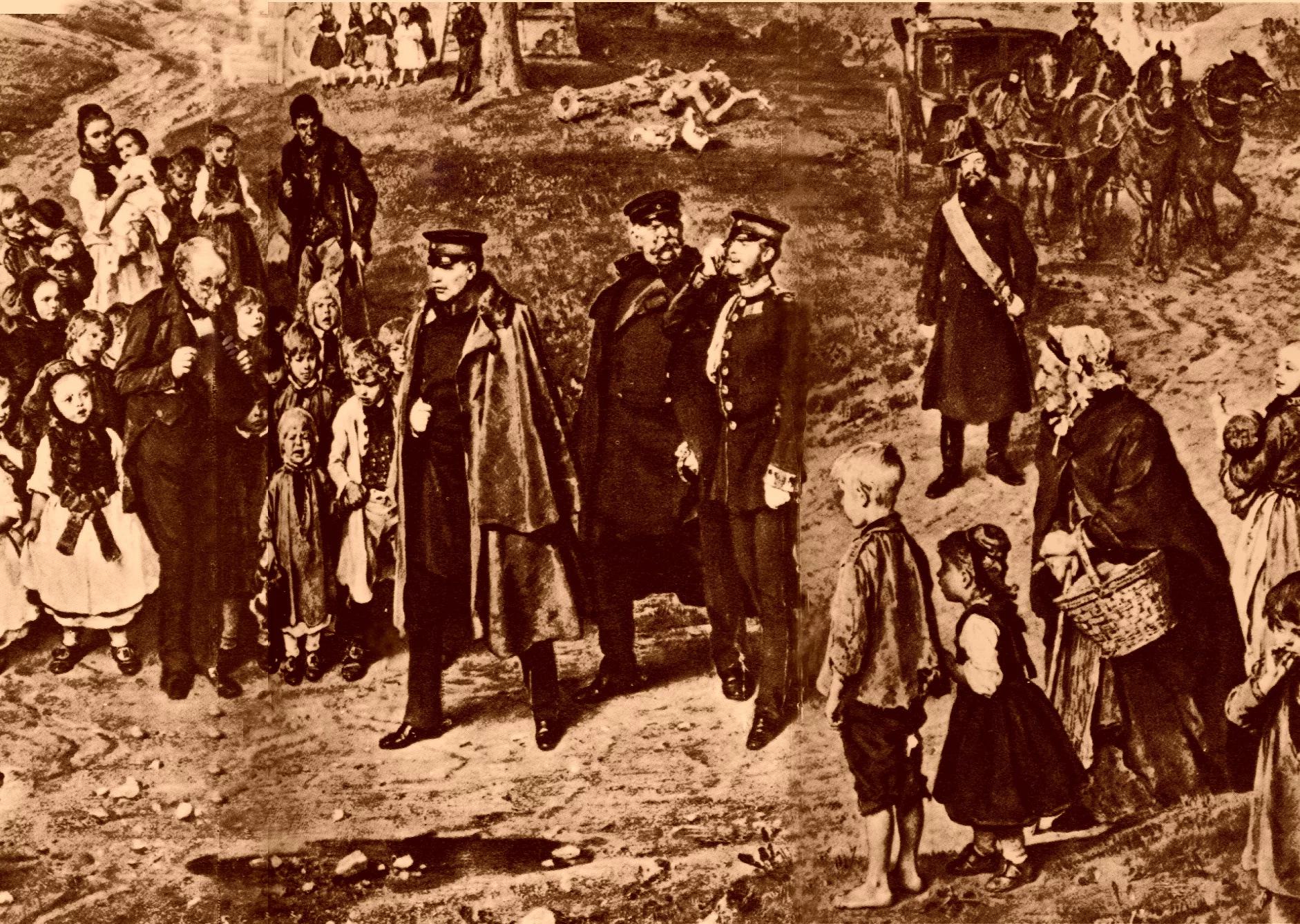 Все сословия Пруссии: в центре, понятно, юнкеры. Здесь же нашлось место горожанам и крестьянам.