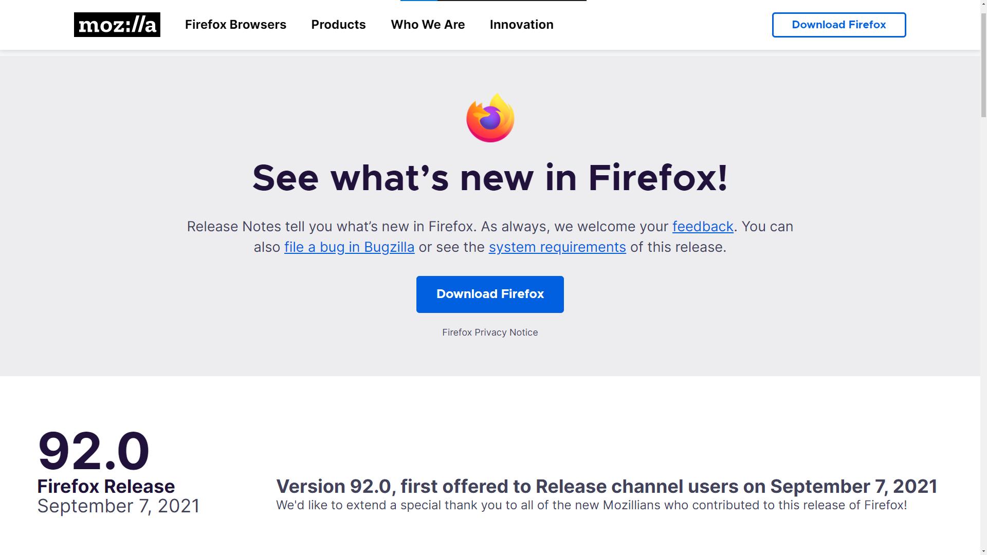 Состоялся релиз Firefox 92 - 1