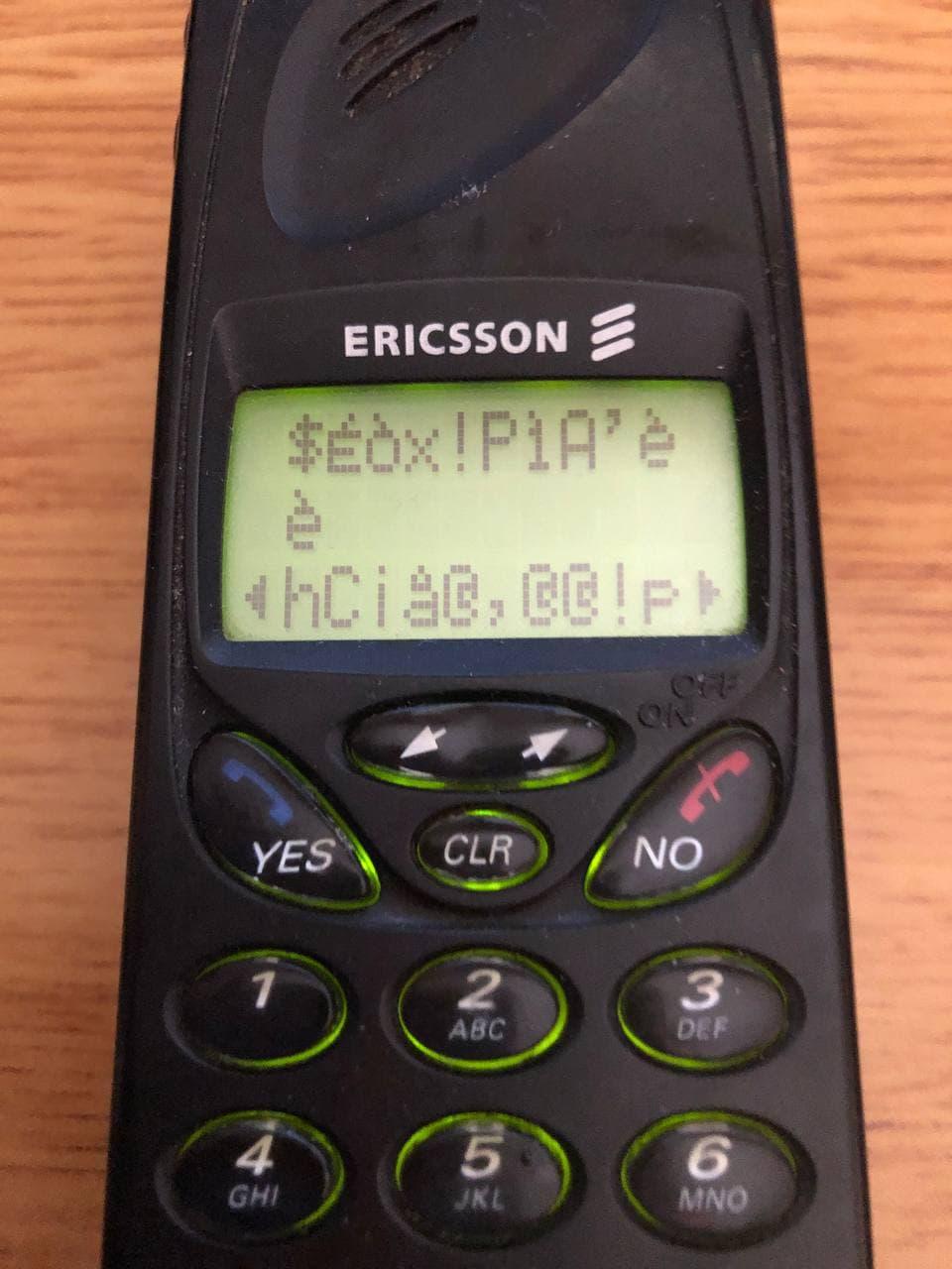 Привет из 1998 года: мобильный телефон Ericsson SH888 - 14