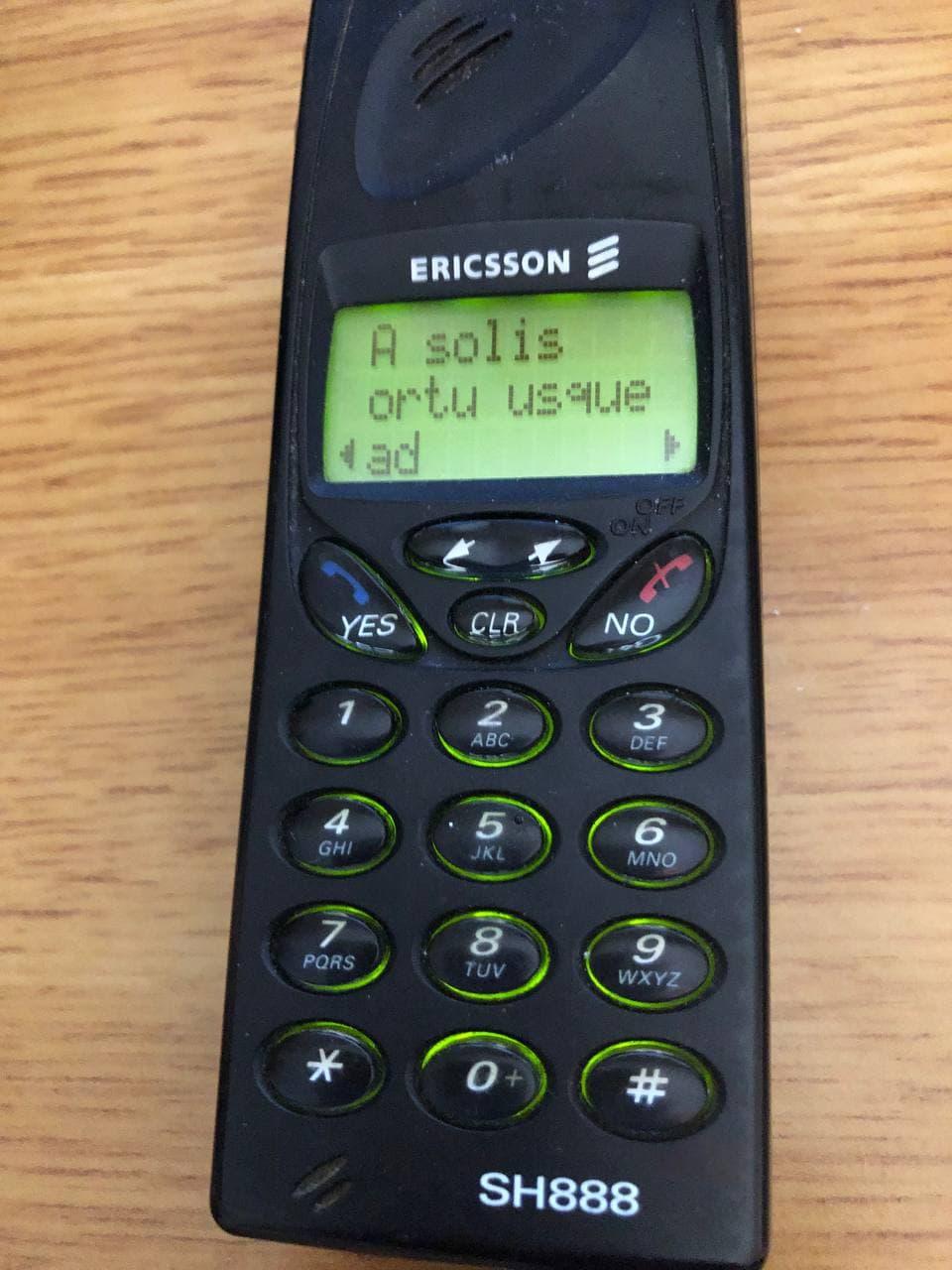 Привет из 1998 года: мобильный телефон Ericsson SH888 - 15