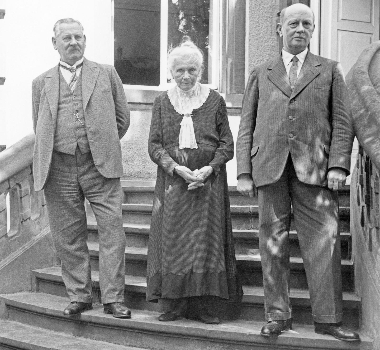 Берта Бенц с сыновьями Рихардом и Огеном, 40-е г.г. прошлого века