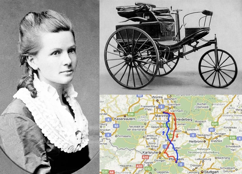 Берта Бенц, её транспортное средство и её маршрут