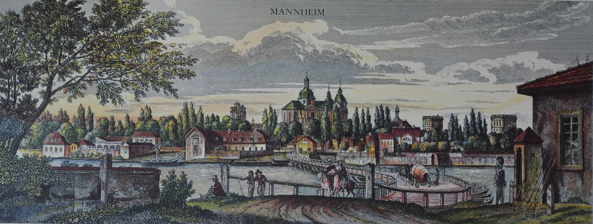 Мангейм, XIX век. Здесь видно состояние дорог в самом городе и можно легко представить, какими они были за пределами городской черты