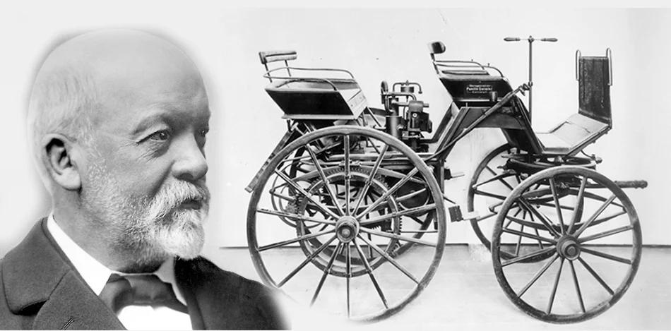 Готлиб Даймлер и его первый автомобиль