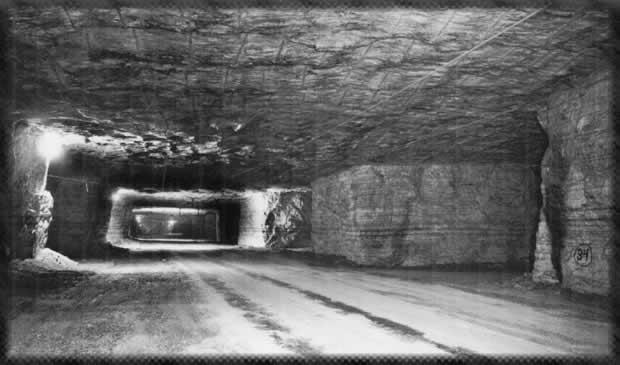 Один из коридоров соляной шахты