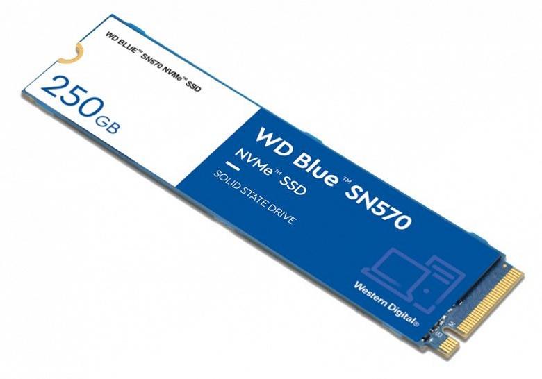 Каталог Western Digital пополнили недорогие твердотельные накопители WD Blue SN570