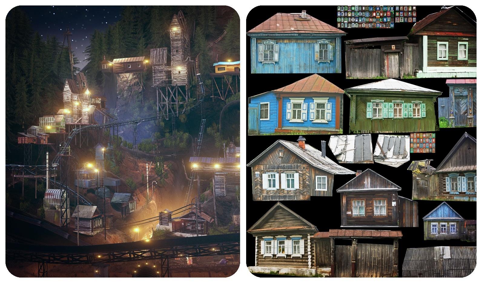Рис.7. Фотографии домов, составившие основу локаций
