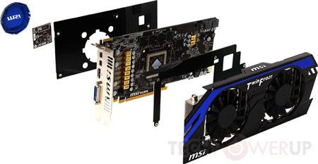 Тактовая частота GPU MSI R7870 Hawk равна 1100 МГц