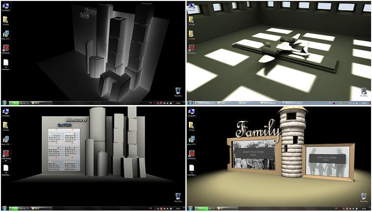 3D модели на рабочем столе