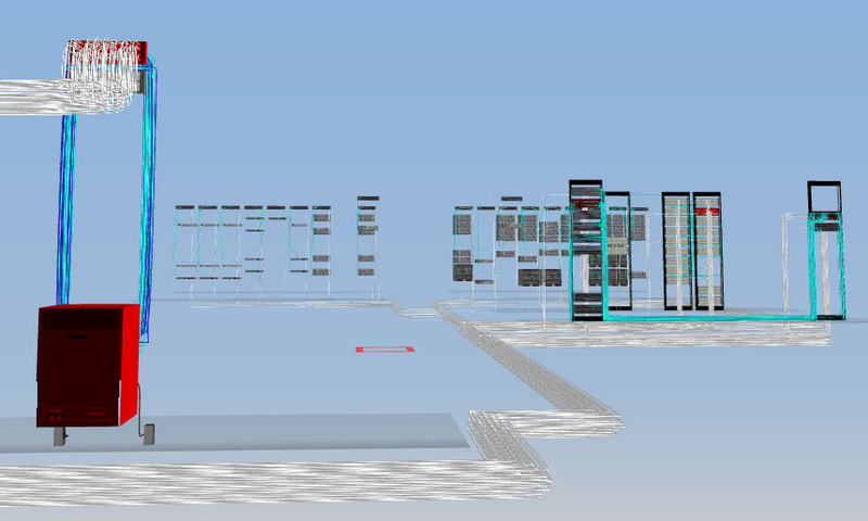3D симулятор дата центра с привязкой к мониторингу