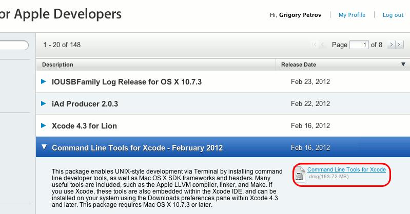 Программирование / XCode 4.3: теперь можно ставить компилятор отдельно