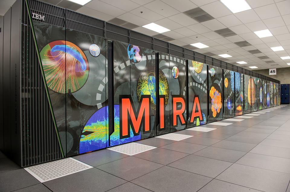 786 432 ядра суперкомпьютера IBM MIRA начали проводить моделирование происходящих во Вселенной процессов