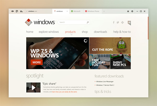 Windows / Концепт UI для Windows 8