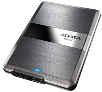 Габариты ADATA DashDrive Elite HE720 равны 117 x 79 x 8,9 мм