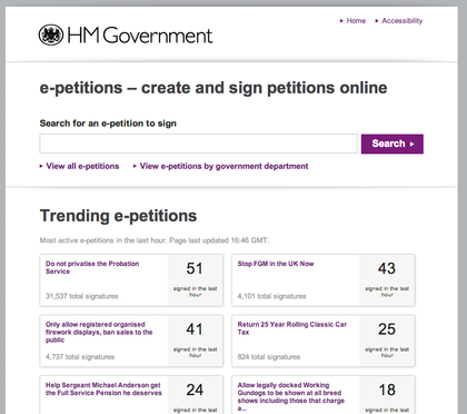 API для Российской общественной инициативы. Шаг 2.1: опыт Великобритании в работе с данными электронных петиций