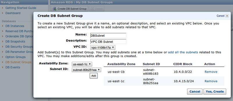 AWS: RDS Micro инстансы теперь доступны и в VPC