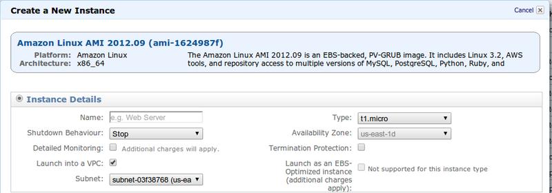 AWS: VPC теперь поддерживает Micro инстансы
