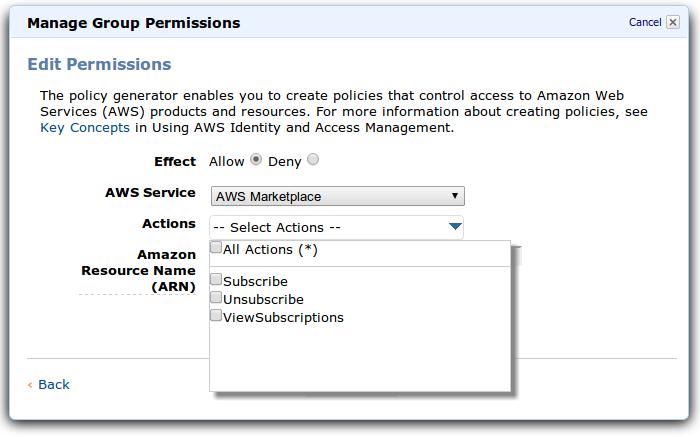 AWS: Маркетплейс стал доступен пользователям IAM