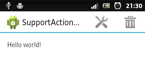 ActionBar на Android 2.1+ с помощью SupportLibrary
