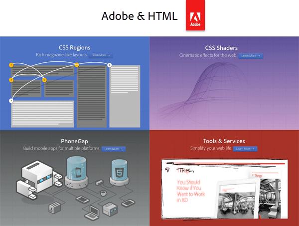 Adobe & HTML