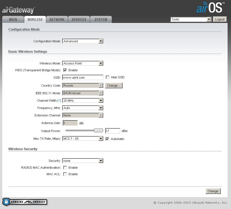 AirGateway — точка доступа Ubiquiti в спичечном коробке