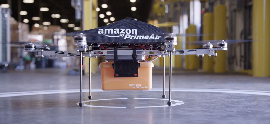 Amazon анонсировал доставку товара роботами (видео)