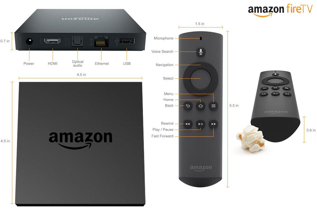 Amazon представил телеприставку Amazon Fire TV
