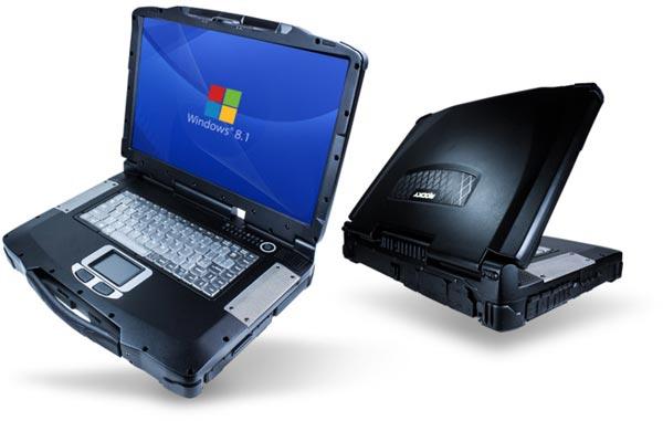 При габаритах 410 х 316 х 71 мм ноутбук Rocky RF10 весит 5,89 кг