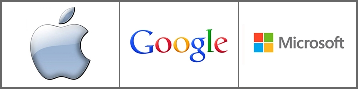 Apple, Google, Microsoft. Онлайн инфраструктура