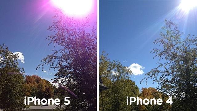 Apple: фиолетовые блики на снимках iPhone 5 — это нормально, держите камеру правильно