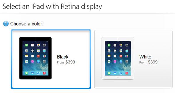 iPad четвертого поколения заменил iPad 2 в магазине Apple
