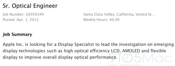 Зачем Apple понадобился специалист по передовым технологиям дисплеев, включая AMOLED?