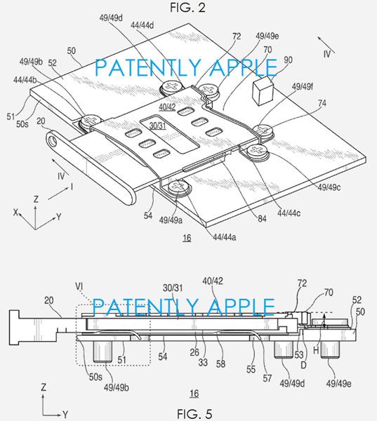 Слот отличается от слотов, описанных в других заявках Apple