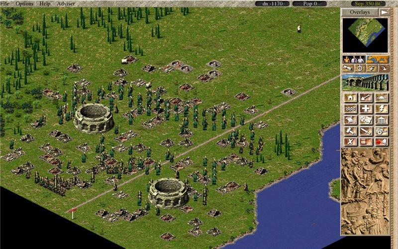 Back инжиниринг Caesar III (часть 2, Рисование города)