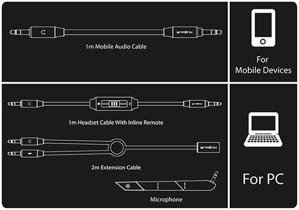 В наушниках BitFenix Flo используются 40-миллиметровые динамические излучатели