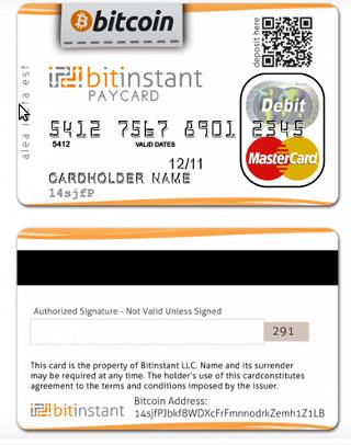 Bitinstant собирается выпустить платёжную карту Bitcoin