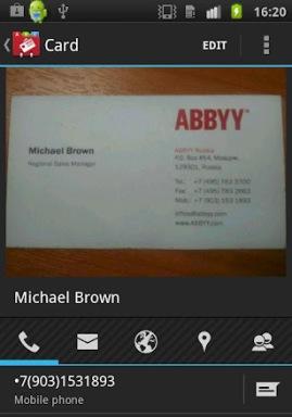 Business Card Reader 2.0 для Android — теперь со своей визитницей