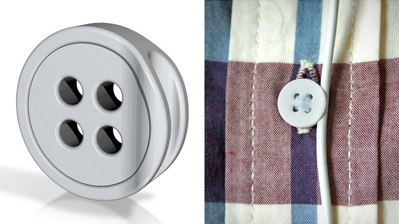 Button 2.0 — пуговица держатель для наушников