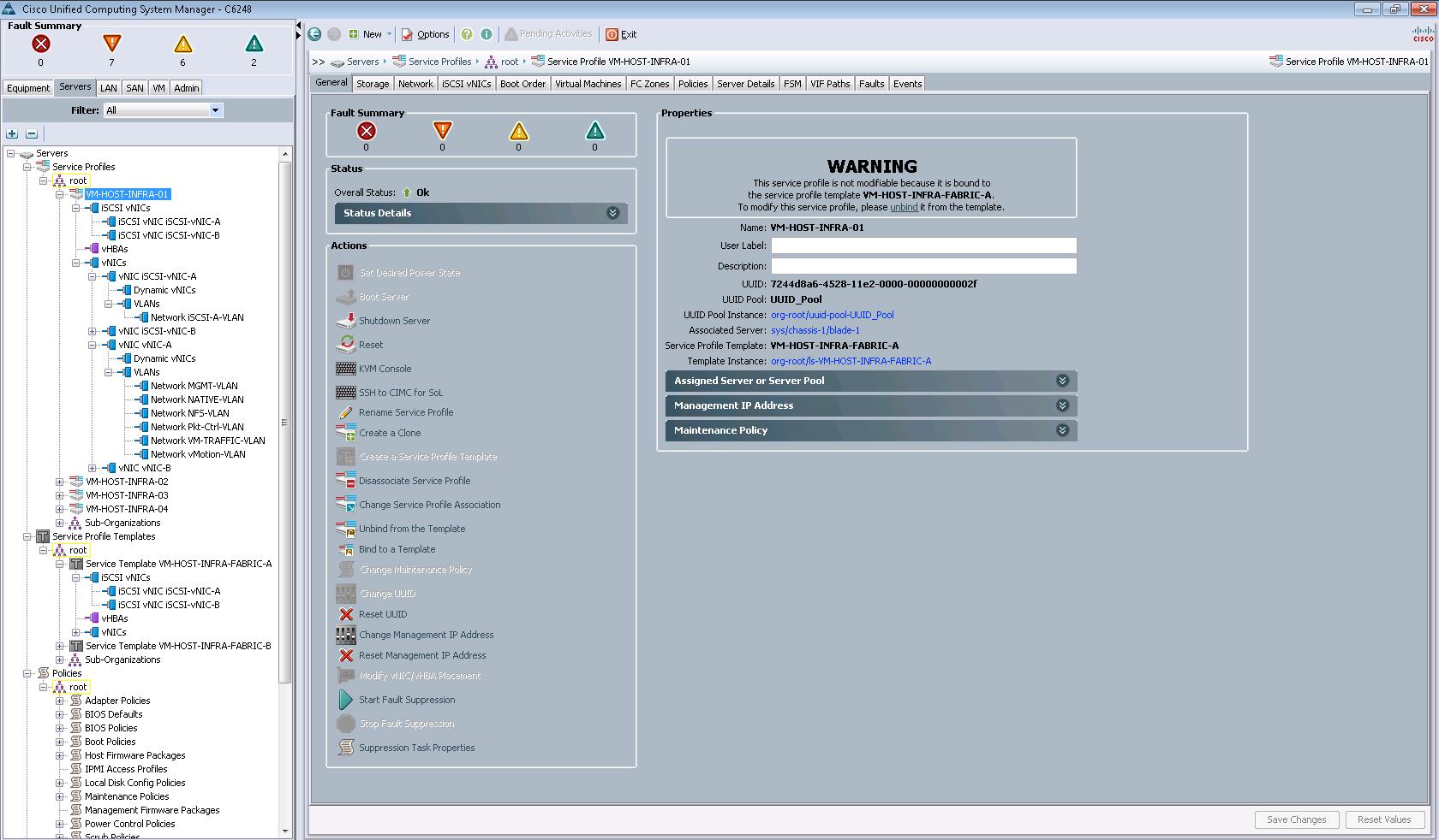 Можно быстро настраивать новые сервера для работы, применяя тот или иной сервисный профиль (Service Profile)