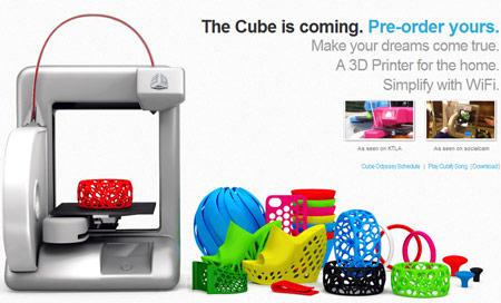 Cubify начинает прием заказов на 3D-принтер Cube