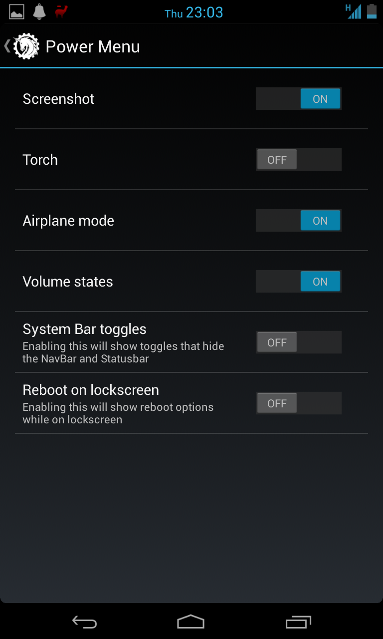 Ability to disable the Reboot menu from the Power menu when the device is locked