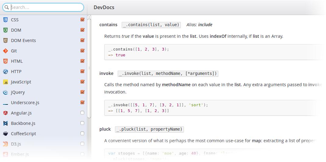 DevDocs: вся документация разработчика в одном месте, с быстрым и удобным интерфейсом