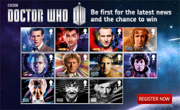 Dr.Who на почтовых марках