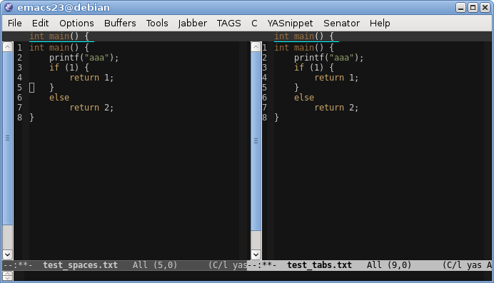 Emacs и правильная работа с чужим кодом: отступы